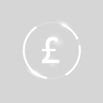 Libra británica icono vector símbolo de moneda de dinero