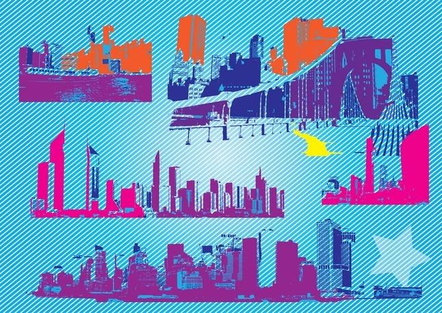 Libre de la ciudad de gráficos vectoriales