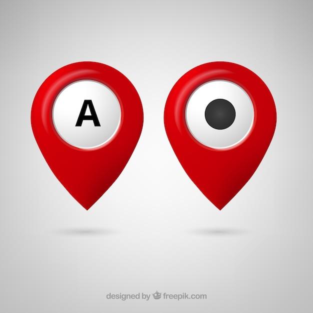 Libre de google maps icono del puntero