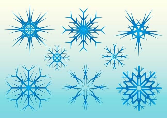 Libres de hielo nieve gráficos vectoriales