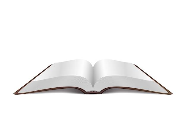 Libro abierto aislado