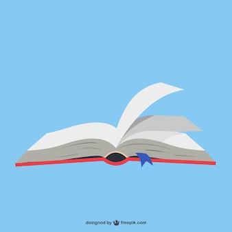 Libro abierto en fondo azul