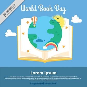 Libro abierto con un mundo maravilloso