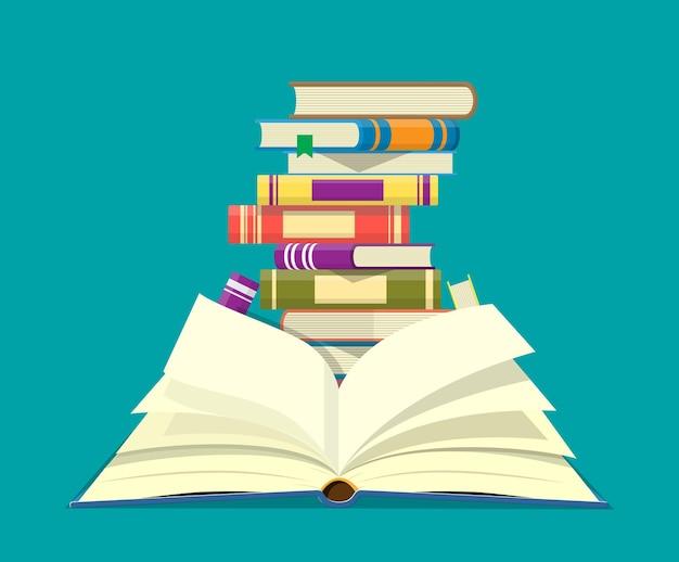 Libro abierto con páginas al revés
