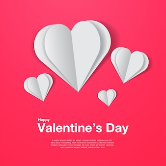 Libro blanco corazones en rosa