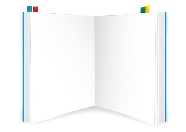 Libro en blanco sobre fondo blanco
