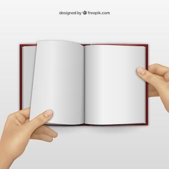 Libro en blanco Vector Premium