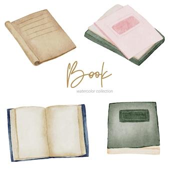 Libro colección de pintura de acuarela a mano