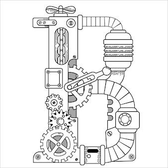 Libro de colorear illustratrion of steampunk para adultos