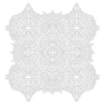 Libro de colorear lineal aislado