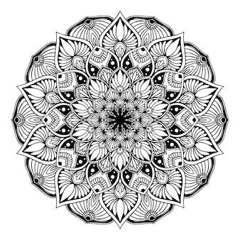 Libro de colorear mandala, terapia oriental doodle de yoga