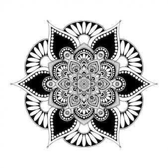 Libro para colorear de mandalas, terapia oriental, yoga.