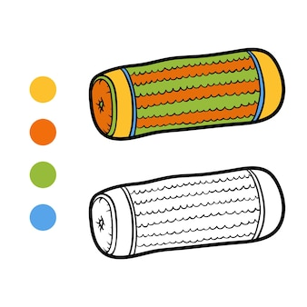 Libro de colorear para niños, almohada