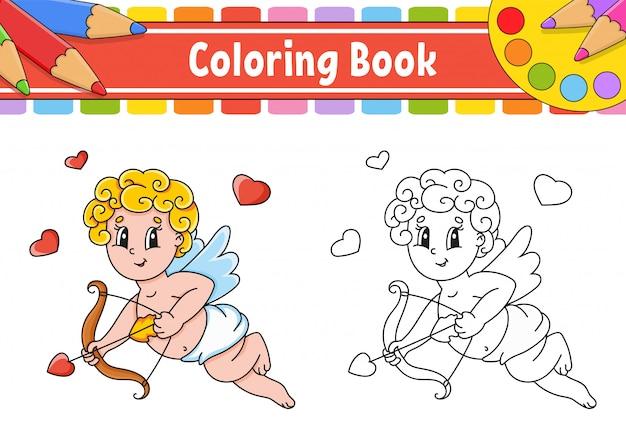 Libro para colorear para niños. caja abierta con un anillo de oro.