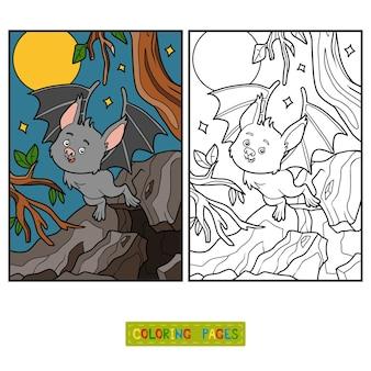 Libro de colorear para niños, vampire bat