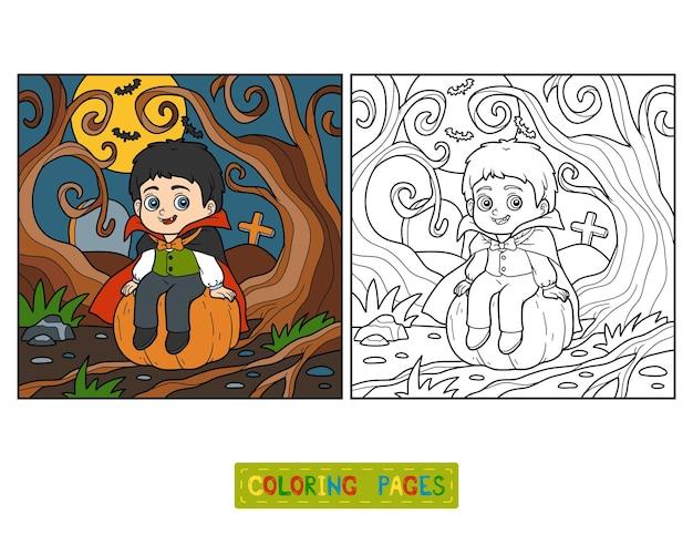 Libro de colorear para niños, vampiro