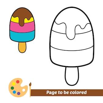 Libro de colorear para niños vector de helado