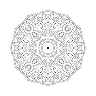 Libro de colorear de patrón de mandala