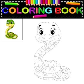 Libro para colorear serpiente