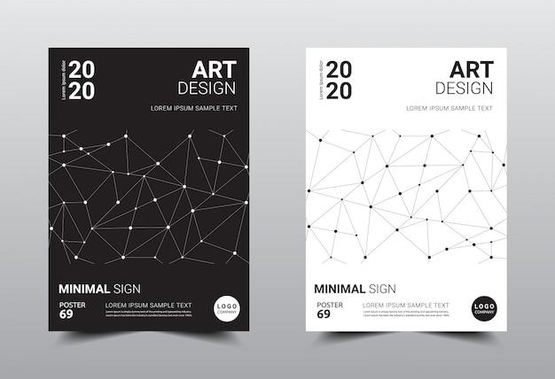 Libro creativo plantilla de diseño minimalista.