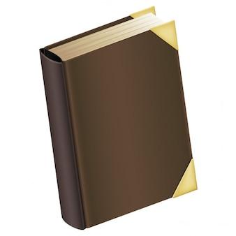 Libro con la cubierta marrón
