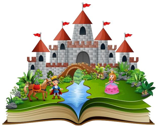 Libro de cuentos con princesas de dibujos animados.