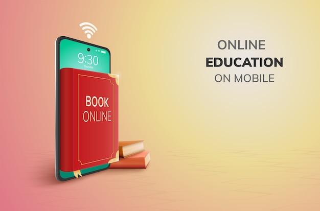 Libro digital de educación en línea por teléfono.