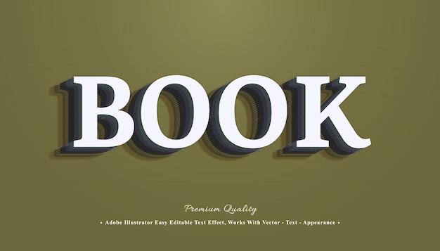 Libro efecto de estilo de texto 3d