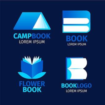 Libro logo set diseño plano