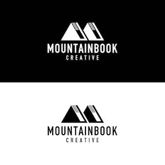 Libro logotipo de montaña