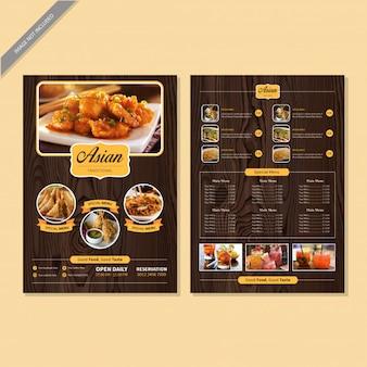 Libro del menú del restaurante