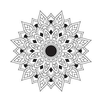 Libro de páginas para colorear de adultos con patrón de mandala