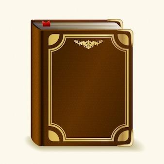 Libro realista marrón