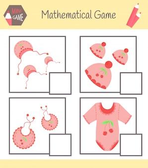 Libro de trabajo sobre matemáticas para la educación preescolar. puzzles para niños. aprende a contar. resolver ejemplos