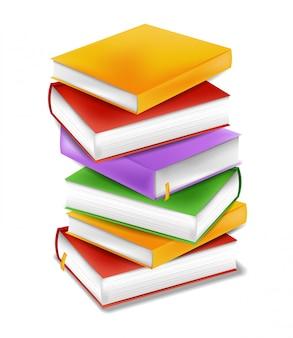 Libros apilan el concepto de estudio de regreso a la escuela