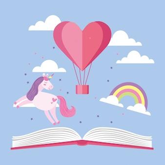 Libros y dibujos animados de educación.