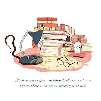 Libros, lectura, todavía, vida