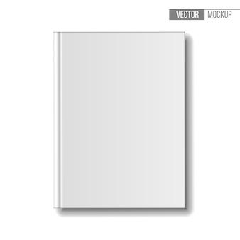 Libros de plantilla sobre fondo blanco para su presentación y. ilustración.