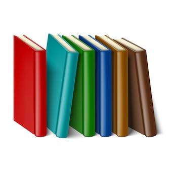 Libros. sobre fondo blanco
