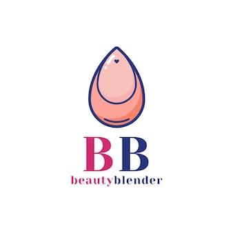 Licuadora de belleza para plantilla de diseño de logotipo de marca de maquillaje