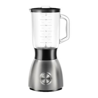 Licuadora. exprimidor vacío o batidora de alimentos. aparato eléctrico de cocina aislado. ilustración de vector 3d realista
