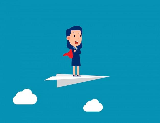 Líder en avión de papel