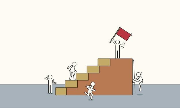 Líder escalando éxito