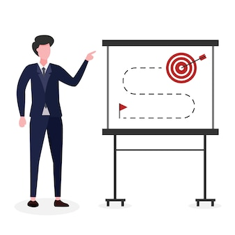 Un líder explica el logro de objetivos.