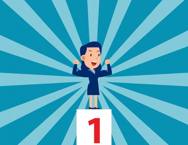 Líder fuerte ganador de negocios y exitoso