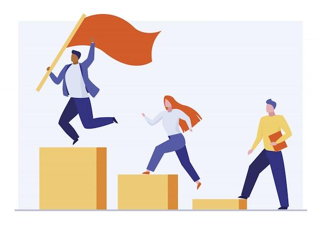 Líder ganando competencia empresarial