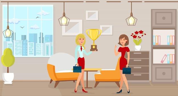 Liderazgo en los negocios. vector ilustración plana