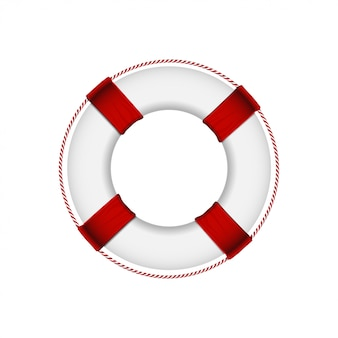 Lifebuoy aislado en fondo blanco