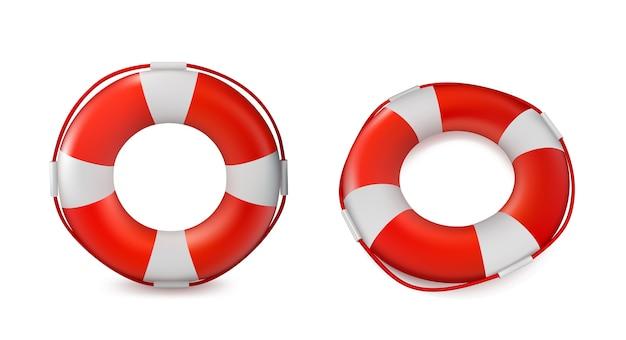 Lifebuoy aislado en el fondo blanco