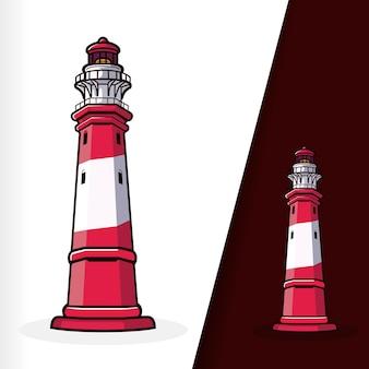 Lighthouse marine landmark tower vector